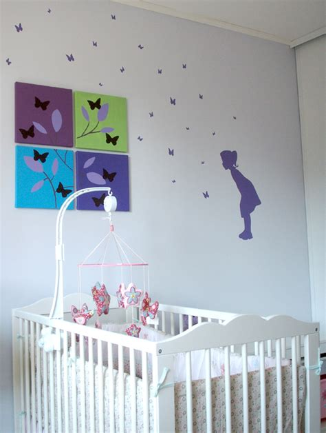 chambre papillon decoration chambre fille papillon