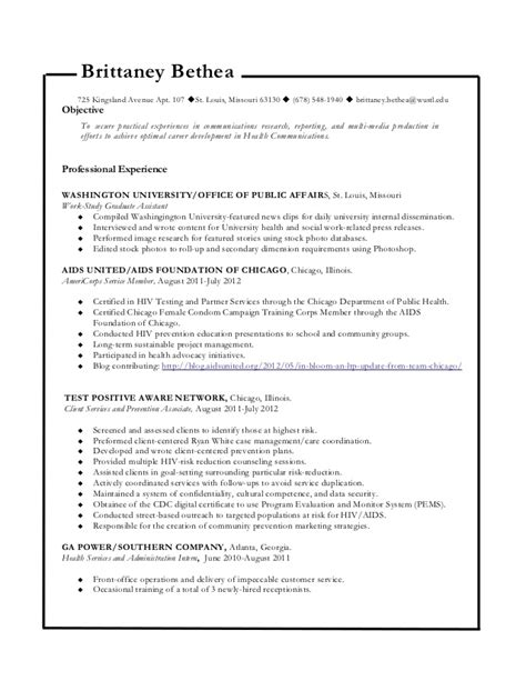 health communications resume 10 17 12