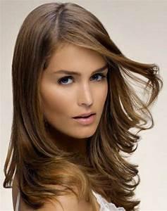 Frange Cheveux Long : coupe de cheveux degrade mi long ~ Melissatoandfro.com Idées de Décoration