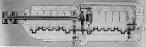 Diagram Of The Fiat As6 Engine Used In The Macchi