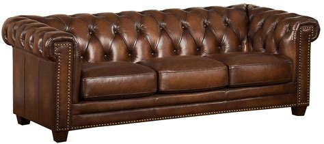 stanley park ii brown leather sofa  amax leather