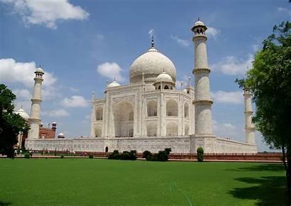 Mahal Taj India Agra Mausoleum Background Mosque