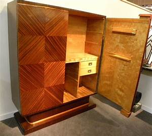 Unique Ultra Art Deco Bar and Armoire with Spectacular ...