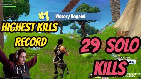 fortnite  solo kills intense game grimmmz record
