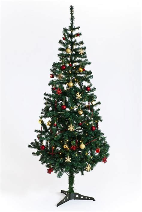 artificial christmas tree with lights decorations