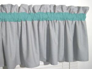 Solid Gray Valance by Turquoise Solid Gray Window Curtain Valance Teal Bath
