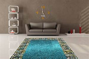 tapis turquoise de salon en polypropylene tello With tapis salon turquoise