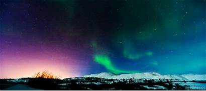 Northern Lights Scenery Colors Gifs Cool Galaxy
