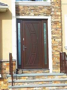 Modern Exterior Wood Door with Sidelights - Front Doors ...