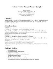 ideas for an objective on a resume customer service resume objective exles berathen