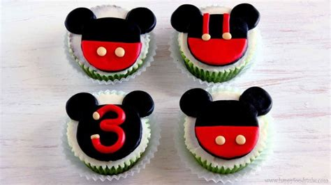 mickey mouse fondant cupcake toppers video tutorial