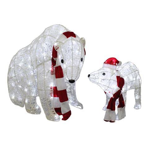 holiday living  piece twinkling polar bear outdoor