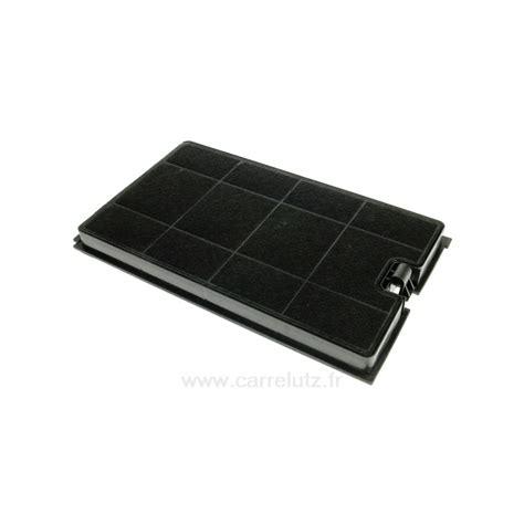 filtre charbon actif 266x158 mm de hotte aspirante whirlpool bauknecht clpieces