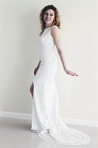 Sequin wedding dress white sequin dress high low hem wedding for White sequin wedding dress