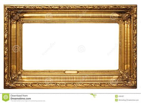 cadre de tableau d or large avec le chemin photographie stock libre de droits image 446497