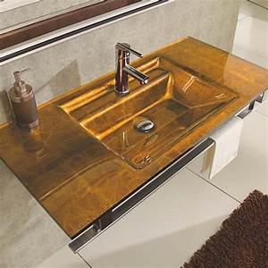 Credence Lavabo Salle De Bain : lavabo verre arp ge et accessoires de salle de bain ~ Dode.kayakingforconservation.com Idées de Décoration