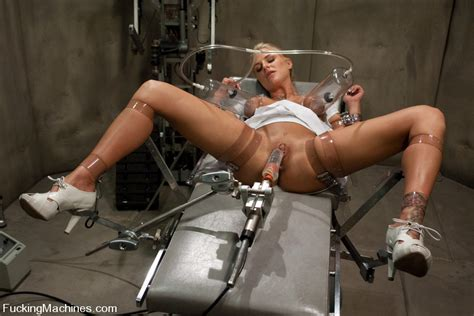 blond babe fucked by sci fi machines cums uncontrollably