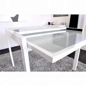 Table Carre Extensible : extend table extensible blanche 90 180cm achat vente table salle a manger pas cher couleur ~ Teatrodelosmanantiales.com Idées de Décoration