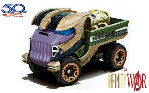Hot Wheels 2018 Character Car  Thanos Marvel Avengers