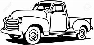 classic truck drawing at getdrawingscom free for With 1955 ford f100 red