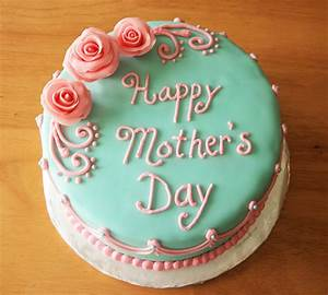 Three Flowers Mother's Day Cake - Happy mothers day cake ...