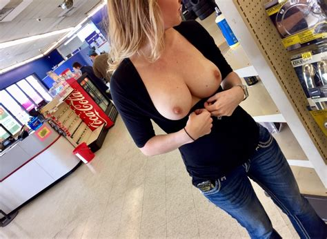 Naughty Wife Flashing Her Sexy Tits In Public G48r13l