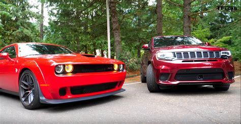 2018 Dodge Challenger SRT Hellcat vs. Jeep Grand Cherokee