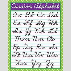 Modern Cursive Chart (039906) Details  Rainbow Resource Center, Inc