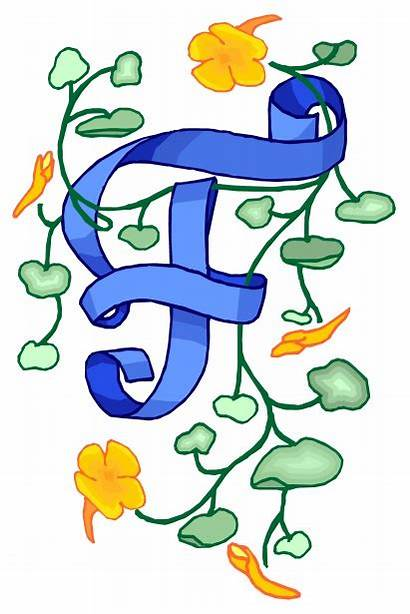 Domain Commercial Clipart Letter Fish Flowery Clip
