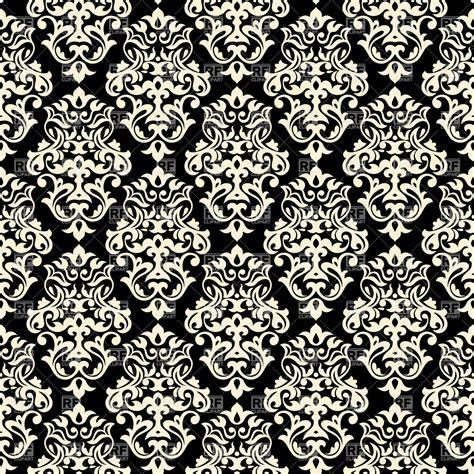 seamless classic black  white background damask