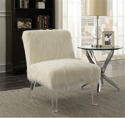 Chair Accent Side Sheepskin Fur Fluffy Glenside