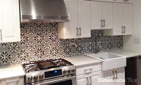 granada kitchen and floor cement tile backsplash tile design ideas 3878