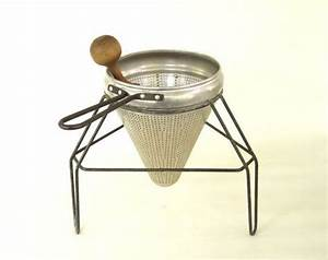 Wear Ever Ricer Sieve Food Strainer Stand Pestle Aluminum Food Photography Prop Canning ...