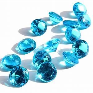 Turquoise Diamond Acrylic Gems Turquoise Wedding Vase