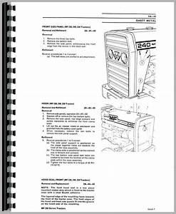 Massey Ferguson 250 Tractor Service Manual