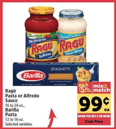 printable coupon ragu pasta sauce