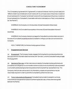 6 consulting contract templates free word pdf With contract templates for consultants
