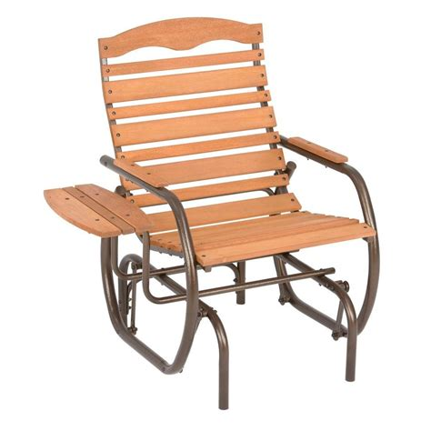 post country garden patio glider chair with