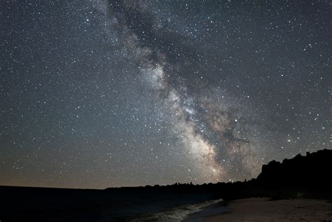 Milky Way Rising Over Lake Michigan Newport State Park