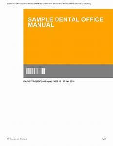 Sample Dental Office Manual By Williamtrott3105