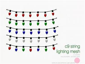 dot39s c9 string lighting mesh With sims 3 outdoor string lights