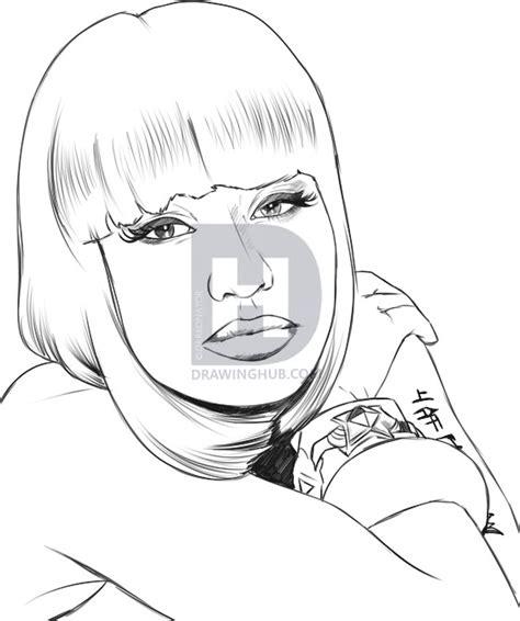 How To Draw Nicki Minaj, Step By Step, Stars, People, Free