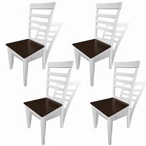Küchen Und Esszimmerstühle : esszimmerst hle 4 stk massivholz braun und wei my ~ Watch28wear.com Haus und Dekorationen