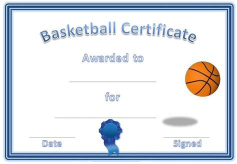 basketball certificates templates activity shelter