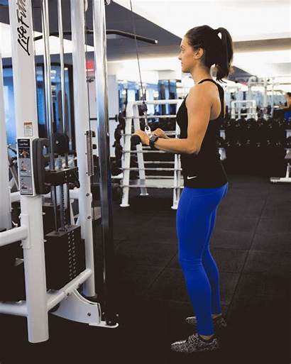 Machines Gym Using Cable Tricep Workout Fitness