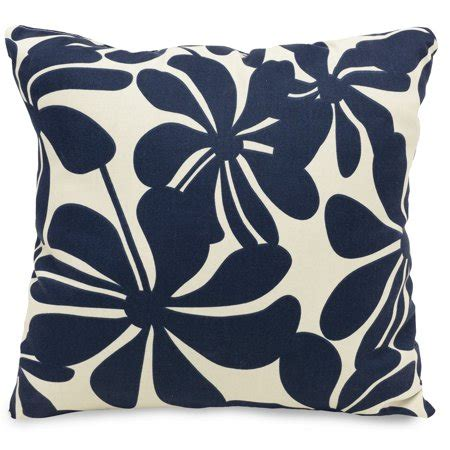majestic home goods indoor outdoor navy plantation large decorative throw pillow