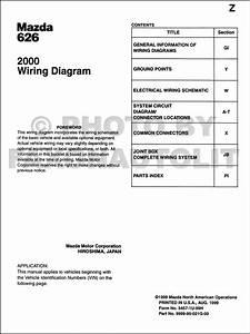 2000 Mazda 626 Wiring Diagram Manual Original
