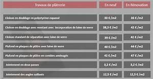 Prix Pose Carrelage Au M2 Sans Fourniture : tarif des pl triers plaquistes lebonplatrier ~ Melissatoandfro.com Idées de Décoration