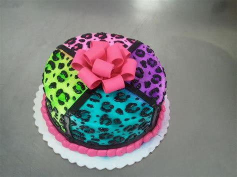 double layer cake  buttercreme icing   neon