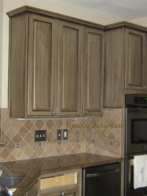 Pickled Oak Cabinets Glazed by Lynda Bergman Decorative Artisan Painting A Glazed